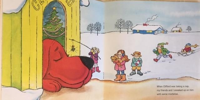 絵本で英語(単語帳付)⑲ Clifford's Christmas ☆赤色とわんちゃんが好きなお子様に是非!