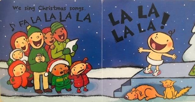 絵本で英語(単語帳付)㉒Fa La La★どのクリスマスソングか分かるかな?